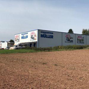 Möbel Müller mit Logistik-Zentrum Ansicht